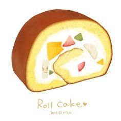Paint by Korean artist: Xihanation Cute Food, I Love Food, Food Art, A Food, Desserts Drawing, Recipe Drawing, Dessert Illustration, Pinterest Instagram, Food Sketch