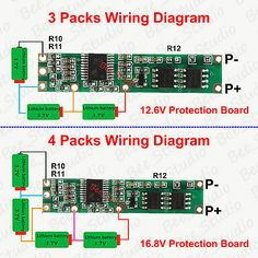 Battery BMS Protection PCB Board for packs 18650 Li-ion lithium Battery Cell Robotics Engineering, Computer Engineering, Hobby Electronics, Electronics Projects, Electronic Circuit Projects, Electronic Schematics, Laptop Repair, Pcb Board, Electrical Wiring