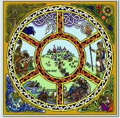 It's Lughnasadh, the ancient Celtic harvest festival. Celebrations included the Tailteann Games, contests such as the long jump, high jump, running, hurling, spear throwing, boxing, contests in swordfighting, archery, wrestling, swimming, and chariot and horse racing. Some claim these were the inspiration for the Greek Olympic games.