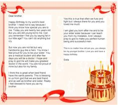 [ Birthday Letter Brother From Sister Happy Funny Quotes Quotesgram ] - Best Free Home Design Idea & Inspiration Happy Birthday Brother From Sister, Gifts For Brother, Happy Birthday Me, Brother Sister, Mood Quotes, Happy Quotes, Happiness Quotes, Funny Quotes, Birthday Quotes Bff