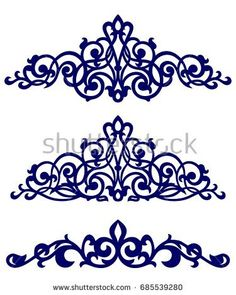 Find Islamic Art Borders stock images in HD and millions of other royalty-free stock photos, illustrations and vectors in the Shutterstock collection. Stencil Patterns, Stencil Designs, Pattern Art, Hand Embroidery Designs, Beaded Embroidery, Embroidery Patterns, Motifs Islamiques, Cnc Cutting Design, Islamic Art Pattern