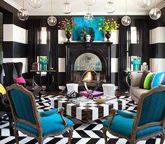 Kourtney Kardashians Living room--Beetlejuice meets Alice in Wonderland