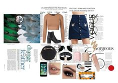 """""""Cute cat outfit"""" by nicoleagui on Polyvore featuring H&M, Barneys New York, Betsey Johnson, Miss Selfridge, Manokhi, Essie, Urban Decay and NARS Cosmetics"""