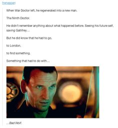 """The time line of this episode ties in wonderfully to season one's whole """"Bad Wolf"""" arc. 