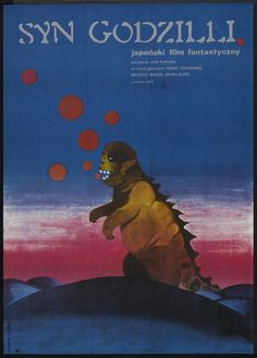 Son of godzilla poster from Poland 1974