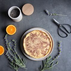 Orange, Vanilla & Lavender Cheesecake