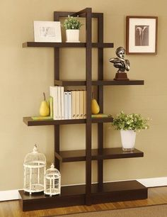 bookshelves | I absolutely love the little vintage birdcages!!!