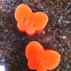 "Baby shower favor soaps... Imprinted with name ""Eva"""
