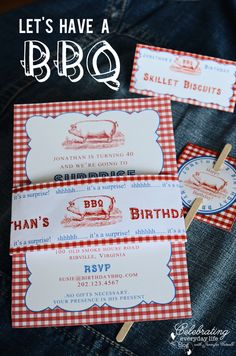 BBQ party invitation, pig roast party invitation, end of summer party