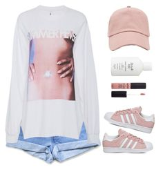 """""""SUMMER FEVER."""" by cheerstostyle ❤ liked on Polyvore featuring Levi's, Forever 21, Fresh, adidas, Adam Selman and NYX"""