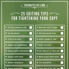 25 Editing Tips for Tightening Your Copy: Now a Printable Checklist - The Write Life