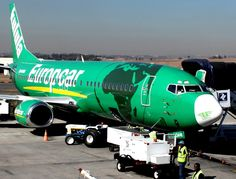 Kulula Europcar plane at Lanseria Airport Boeing 707, Boeing Aircraft, Passenger Aircraft, Airplane Decor, Airplane Design, Airplane Drone, Aircraft Painting, Commercial Aircraft, Paint Schemes