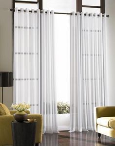 curtain treatments for french doors - Google Search.  I like the grommets