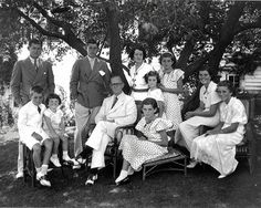 Kennedy family at Hyannis Port 1934. Patricia, Joseph Jr, Robert, Kathleen, Rose, John, Rosemary, Edward, Jean, and Eunice. American Heritage mag. 10/1999.