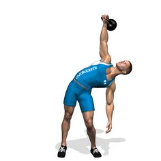 WINDMILL KETTLEBELL INVOLVED MUSCLES DURING THE TRAINING ABDOMINALS