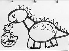 [Tutorial] How to draw a dinosaur from Jurassic Park film for kids - YouTube