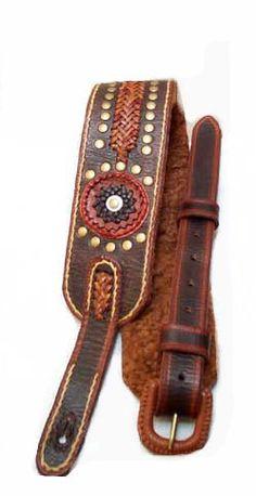 Lined handmade guitar strap