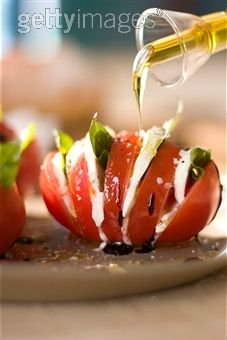 Tomato motzerella basil and dressing