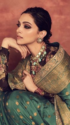 Deepika Padukone Looks Royal As She Decks Up In Sabyasachi Saree For Reliance Foundation 10 Year Anniversary - HungryBoo Deepika Padukone Saree, Shraddha Kapoor, Ranbir Kapoor, Indian Designer Outfits, Indian Outfits, Indian Attire, Sabyasachi Sarees, Anarkali, Indian Look