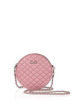 D & G  ROSE QUILTED CIRCULAR CROSSBODY MINI BAG