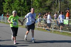 This sweet couple was spotted running hand-in-hand at the National Shrimp Festival Run
