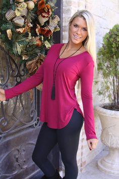 Cranberry long sleeve shirt