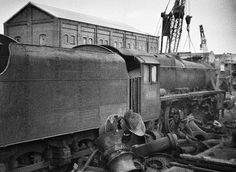 The Hull & Barnsley Railway goods shed behind is still standing today as part of a frozen food factory. Description from flickr.com. I searched for this on bing.com/images Live Steam Locomotive, Steam Trains Uk, Death Pics, Kingston Upon Hull, Steam Railway, Abandoned Train, East Yorkshire, Train Times, British Rail