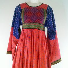 Folkloric 60s-70s #Kuchi style patchwork floral print + embroidery #vintage #Afghan dress! $179 from Cointrelle