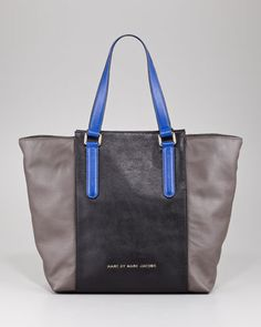 Burg Boxer Colorblock Tote Bag by MARC by Marc Jacobs at Neiman Marcus.