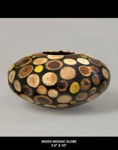 Philip Moulthrop, Mosaic Bowl, ca. 1995. Pine and other wood in epoxy. Courtesy Moulthrop Studios