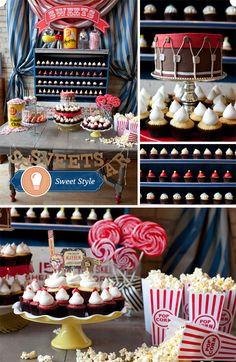 Movie Theater Themed, Cupcake Display