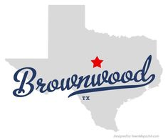Map of Brownwood Texas TX