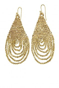 Gold Beaded Dangle Earrings