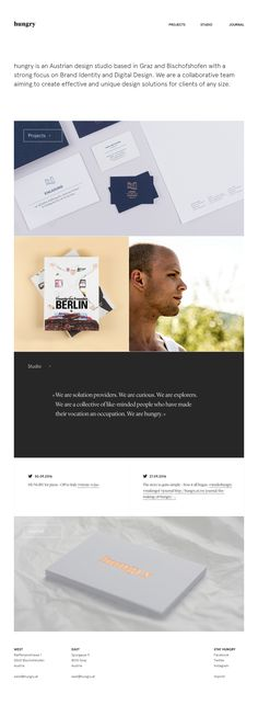 German web design agency website with clean typography and subtle animations Design Studio, Ux Design, Ecommerce Shop, Web Design Agency, Web Design Inspiration, Portfolio Design, Brand Identity, Projects, Landing