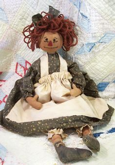 hand made doll - downloadable  pattern.