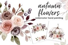 Botanical Illustration, Watercolor Illustration, Digital Illustration, Graphic Illustration, Sublimation Paper, Free Advertising, Fall Flowers, Print Templates, Repeating Patterns