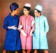 Jeanne Lanvin, Pierre Cardin, Philippe Venet. Marie Claire (France) March 1963