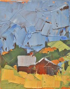 Red Barn Blue Sky by Sandra Pratt (Selby Fleetwood Gallery)