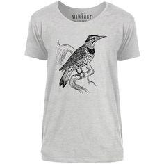 Mintage Lookout Bird Mens Scoop Neck T-Shirt