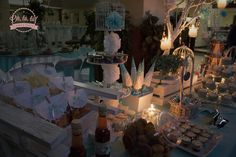 #candlelight #alaluzdelasvelas #romantica #misxv #menta #plata #candynsnackbar #mesadedulces