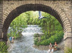 Coffee Aqueduct by Patrick Commecy & A.Fresco (Estrablin, France)