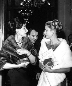 Maria Callas with HSH Grace of Monaco, 1964.