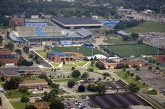 MTSU sports complex, Murfreesboro, TN.  Aerial photography by Ken Robinson 2012 all rights reserved.