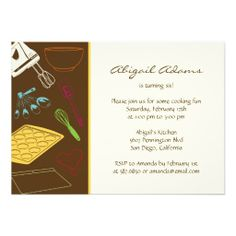 Cooking Party - Birthday Party Invitation