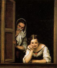 Murillo - mujeres en la ventana (1670)