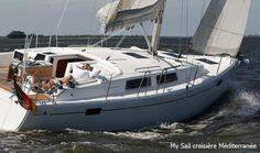 #Voilier Hanse 385. Un très beau #bateau proposé au départ de #Marseille et de l'ile des #Embiez.