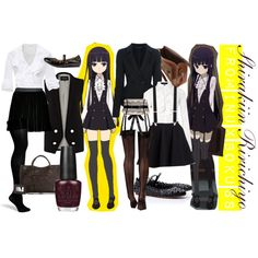 """[Inu x Boku SS] Shirakiin Ririchiyo"" by animangacouture on Polyvore www.otakucouture.com"