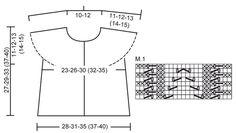 """Nova / DROPS Baby 20-14 - Gilet sans manches DROPS tricoté dans le sens de la longueur au point mousse et point ajouré en """"Baby Merino"""". - Free pattern by DROPS Design"""