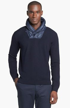 Zegna Sport Water Repellent Shawl Collar Sweater available at #Nordstrom
