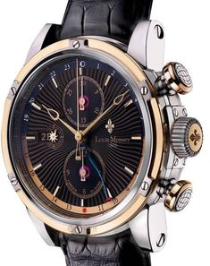 Louis Moinet Geograph Gold and Steel Black Dial - Exquisite Timepieces Best Watches For Men, Cool Watches, Tom Ford Makeup, Fossil Watches, Nixon Watches, Ring Watch, Patek Philippe, Luxury Watches, Atelier